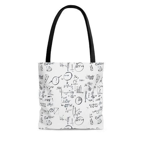 White Back to School, Teacher Bag AOP Tote Bag