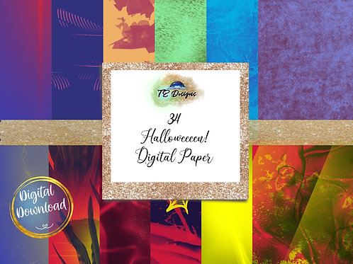 Halloween Textures  digital papers