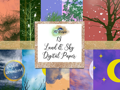 Land and Sky Digital Papers