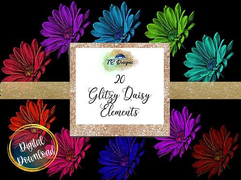 Glitzy Daisy Clipart