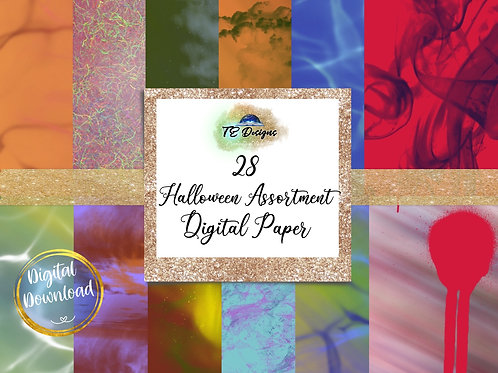 Halloween Assortment Digital Papers