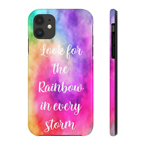 Look For the Rainbow in Every Storm | Phone Case | Case Mate Tough Phone Cases