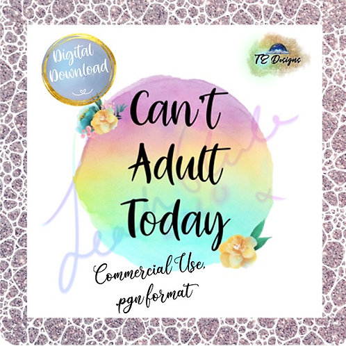 Can't Adult pgn clipart for commercial use