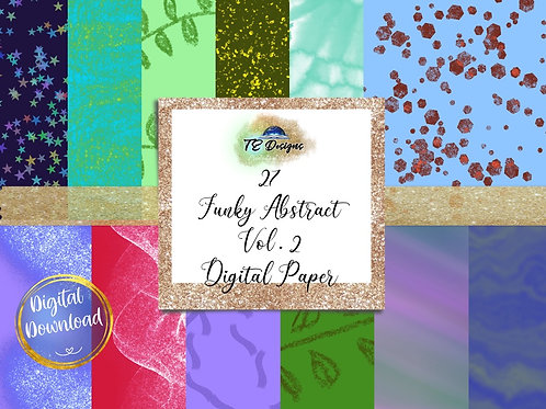 Funky Abstract Vol 2 Backgrounds Digital Papers