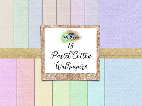 Pastel Cotton Digital Papers