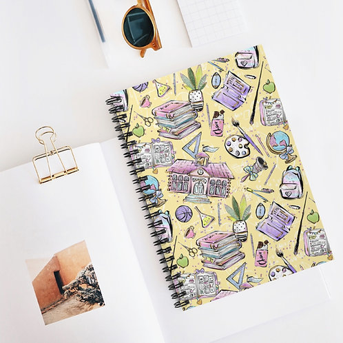 Yellow,  Back to School Spiral Notebook - Ruled Line