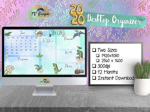 Dinosaur Desktop Organiser