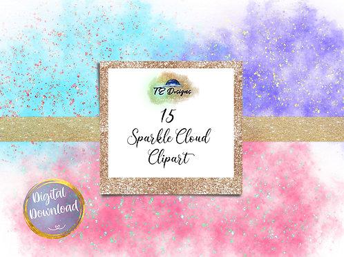 Sparkle Clouds Clipart
