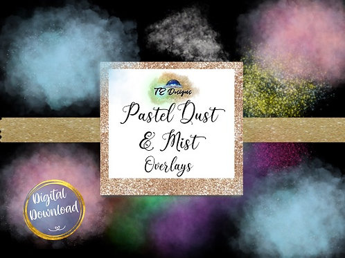 Pastel Dust and Mist Overlay Clipart
