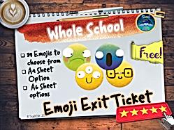 Emoji ExitTicket