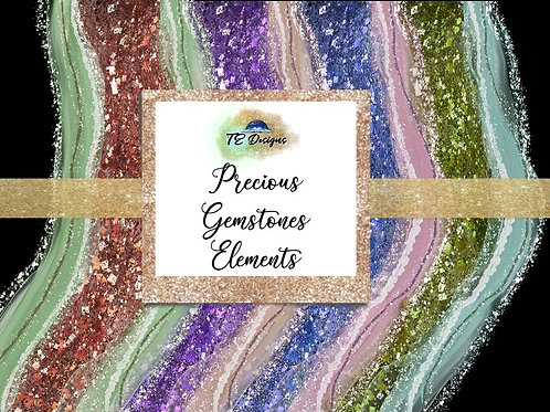 Precious Gemstones Overlays for Commercial use