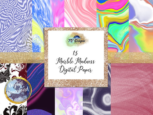 Marbled Madness Digital Papers