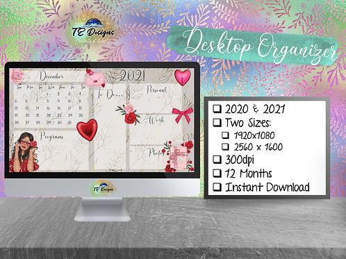 Valentine's Desktop Organizer