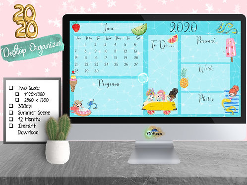 Summer Fun Desktop Organizer