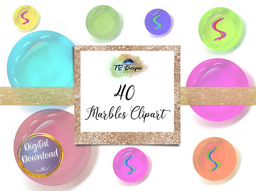 Assorted Marbles Clipart