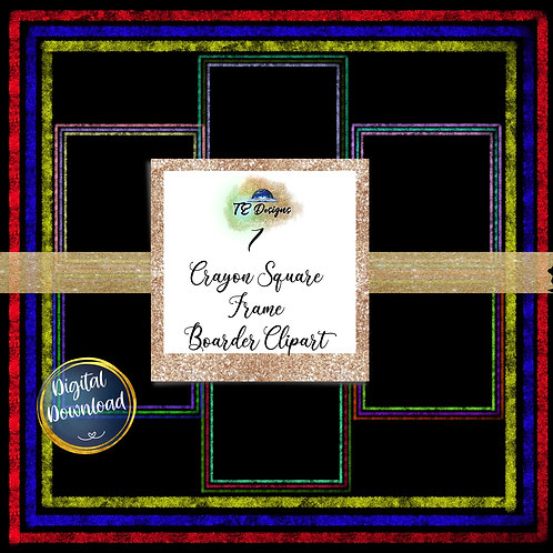 "Crayon Square Border Frame 12"" x12"""