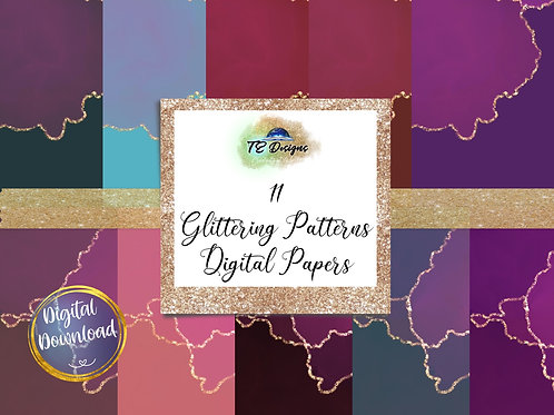 Glittering Patterns digital papers