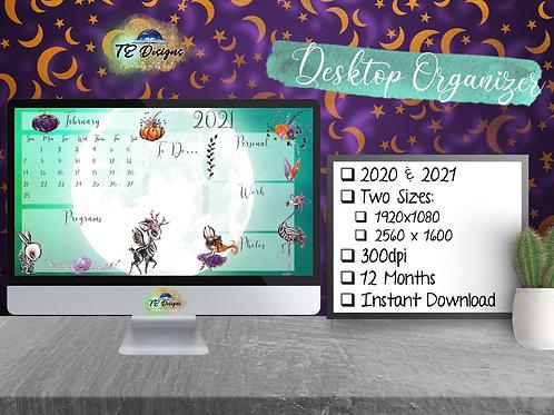 All Hallows Eve Halloween Desktop Organiser