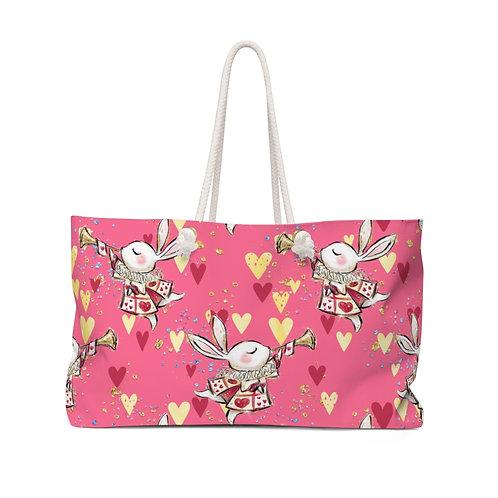 Pink Rabbit, Queen of Hearts Alice in Wonderland Teacher Bag