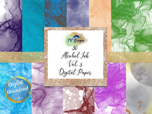Alcohol Ink Vol 5 Digital Papers