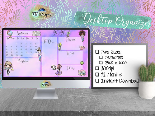 Back to School Desktop Organizer