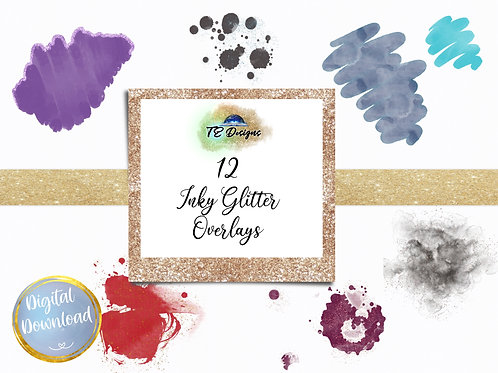 copy of Glitzy Watercolour Marker Overlay Clipart