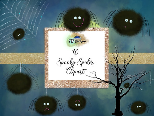 10 Halloween Spooky Spider Cute Elements