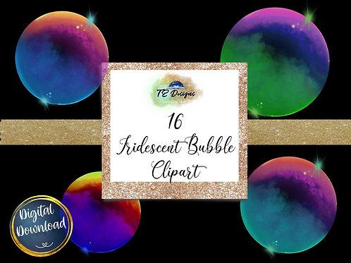 Iridescent Bubble  Clipart