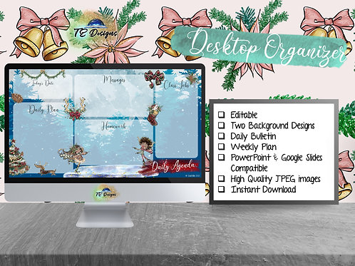 Its Christmaaas Daily Planner, Digital Bulletin Board