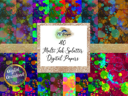Ink Splatter digital papers