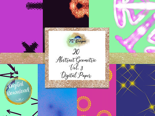Abstract Geometry Vol 3 digital papers