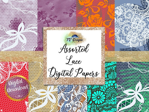 Glam Lace Backgrounds Digital Papers