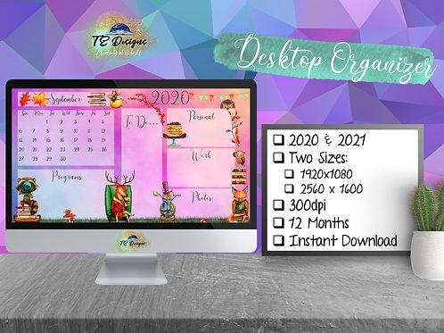Autumn Tea Party Desktop Organizer