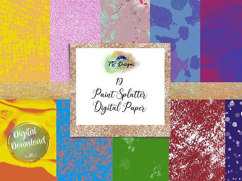 Paint Splatter digital papers
