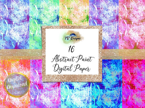 Abstract Paint Digital Papers