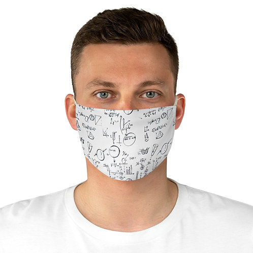 White Teacher Back to School, Education, Science equation Fabric Face Mask