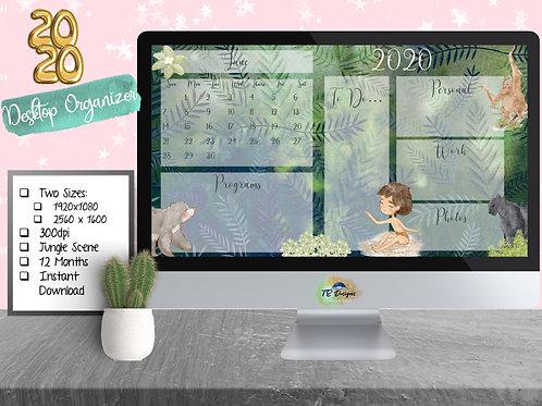 Jungle Book desktop organiser/organizer background