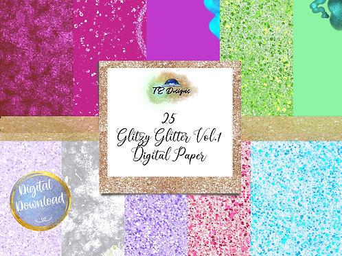 Glitzy Glitter Vol. 1 Digital Papers