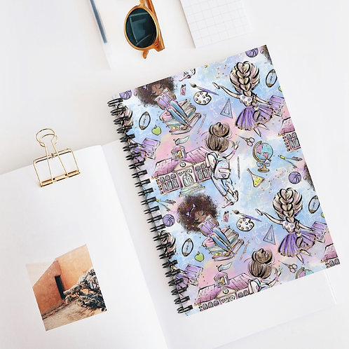 Purple and Blue, Back to School Spiral Notebook - Ruled Line