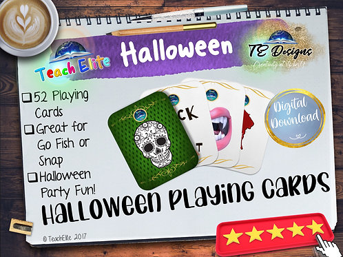Halloween - Playing Cards Snap or Go Fish
