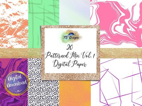 Pattern Mix Vol 1 digital papers