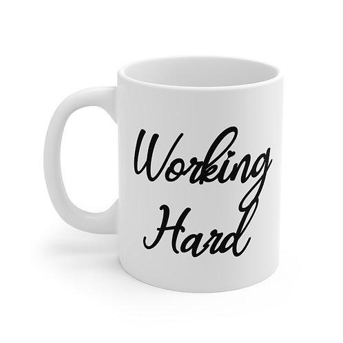 Working hard mug, Hardly working Mug 11oz