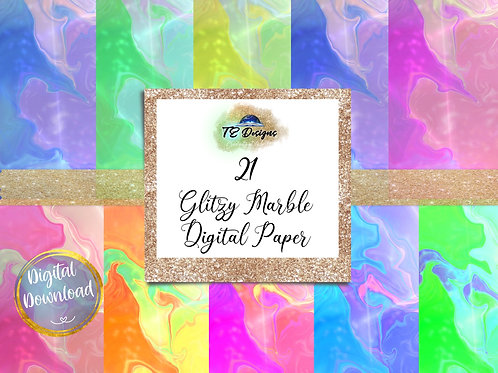 Glitzy Marble Digital Papers