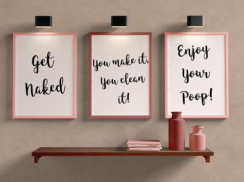 Bathroom Quote Prints
