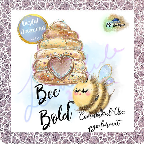 Bee Bold .pgn clipart for commercial use