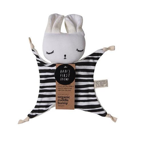 Wee Gallery Organic Bunny Comforter - stripe