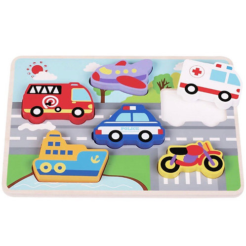 Chunky Vehicles Puzzle