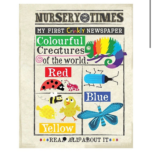 Nursery Times Crinkly Newspaper - Colourful Creatures