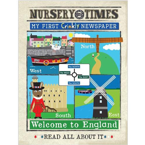 Nursery Times Crinkly Newspaper - Welcome to England