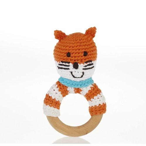 Pebble Fox wooden teether